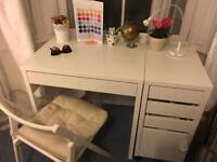 White Ikea Table plus chair, lamp, Oxford