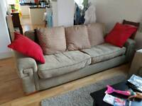 3 seater sofa + 5 cushions