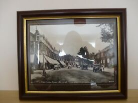 Black and white print of photo of Henleaze Rd