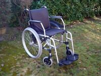 Greencare Bariatric WHEELCHAIR 135kg load Self Propelled Lightweight alluminium rrp £650 EXCELLENT