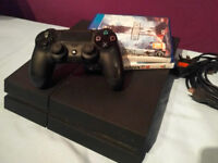 PS4 with controller and 3 games - great condition