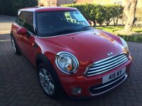 Mini Cooper Diesel 1.6, in Red, including Chili Pack, 1/2 Leather, Rear Tinted Windows, 2 Owners
