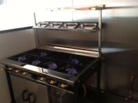 Commercial Cooker with 6 Burners and Oven (Quick sell)