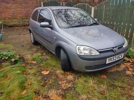 2003 Corsa 1.2 low mileage, good condition, 7 month MOT.