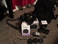 Canon EOS 600D SLR Camera with 2 lenses (18-55 mm f/3.5-5.6 IS II Lens and 50mm f/1.8 II lenses)