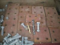 RSJ BOLTS AND PLATES £30.00