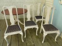 Beautiful Antique Victorian Pedestal Dining Table and 4 Chairs