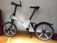 GoCycle G1 Electric Bike for sale with extras.