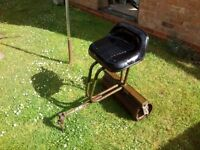 Garden mower, tractor seat and roller