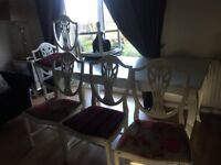 £25 FULL DINING TABLE SET, 6 CHAIRS AND TABLE!!