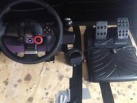 SOLD Logitech GT driving force wheel