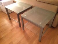 Pair/Two Glass Coffee Table