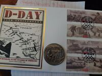 D Day Anniversary Crown coin and stamp cover