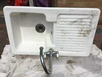 Kitchen sink with mixer tap