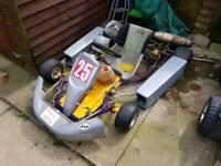 Petrol go kart with 100cc engine