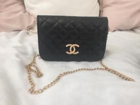 Chanel rectangle mini black hand bag