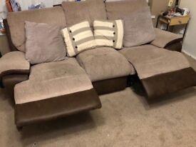 3 piece brown sofa suite