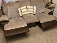 3 piece brown sofa suite