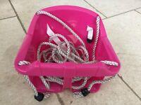Pink baby swing: brand new, in original packaging