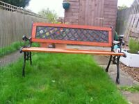 Metal and wooden Garden Bench