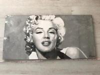 Marilyn Monroe Time Art Print Monochrome Grey