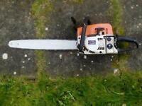 Large chain saw