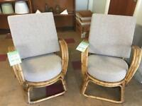 2 wicker chairs (ref W.893)