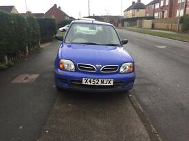 Nissan micra 1litre low mileage taxed and tested