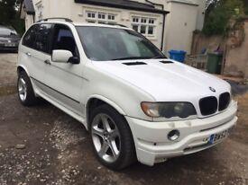 2002 BMW X5 4.6 V8 IS M SPORT AUTO PRINS LPG GAS WHITE SPARES OR REPAIRS