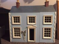 Baby Blue dolls house with furniture