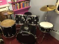 Premier Olympic 5 piece beginners drum kit in excellent condition