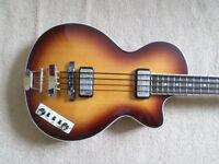 Hofner Club Bass Contemporary w/ Upgrades + Hofner Case