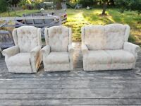 Sofa and 2x arm chairs - 3 piece suite