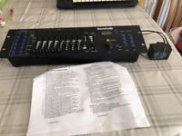 Sound lab eight channel DMX lighting controller With power supply and instructions