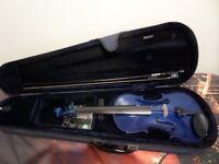 Violin for sale - Blue - 3/4 Size - Childs
