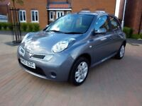2008/57 NISSAN MICRA 1.2 ACENTA FACELIFT MODEL 5 DOOR IN MET GREY.FULL MOT