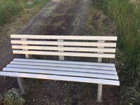 Garden PVC Bench, white colour, high quality, bargin