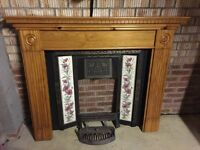 Decorative cast iron fire place