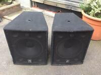 Various PA Speakers, tops, bass bins and monitor