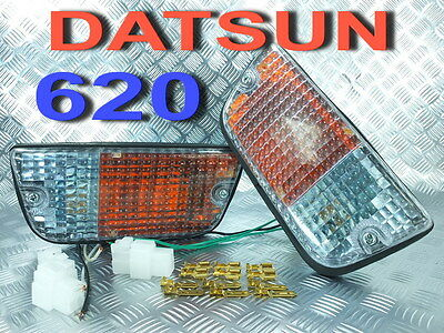 1 PAIR FRONT PARKING TURN SIGNAL LIGHTS FIT FOR DATSUN 620 PICKUP TRUCK