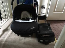 Venture car seat and base