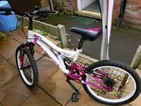 White & Pink girls bike