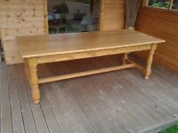 Large & Very Heavy Farm House Kitchen Table Seats 8 / 10