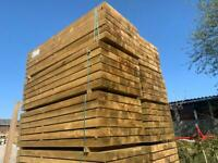 🌳 Tanalised Wooden / Timber Railway Garden Sleepers ~ New ~ 195x95x2.4m