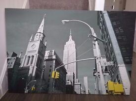 New York canvas print 118 cm w x 80 cm h