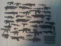 38 action figures guns.