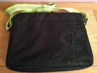 Laptop Bag - Black with grey bike logo