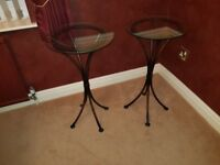 Wrought Iron Wine Tables