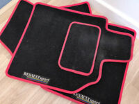 Renault Sport Megane 225 R26 230 F1 RS Mats - Red & Black