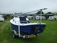 2007 West Wight Potter Trailer Sailer. 2 berth. Complete with 2015 2.3 hp Honda outboard.